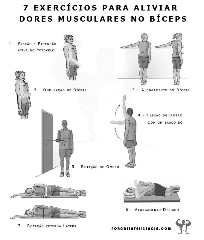 Exercícios para aliviar dores bíceps
